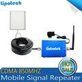 Kits completos de CDMA 850 MHZ Telefone Celular Impulsionador GSM Amplificador Repetidor UMTS 850 Repetidores 850 mhz Móvel Repetidor com Antena para casa