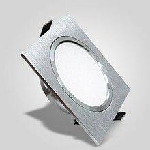 Светодиодный светильник s 5 Вт 10 Вт с регулируемой яркостью 230 В квадратная щетка серебряный светодиодный потолочный светильник 15 Вт светильник для кухни/дома/Внутреннее освещение служебных помещений