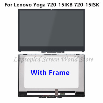 FTDLCD 15.6'' UHD 4K FHD LCD Touch Screen Assambly with Frame NV156QUM-N51 For Lenovo Yoga 720-15ISK 720-15IKB 80X70058GE