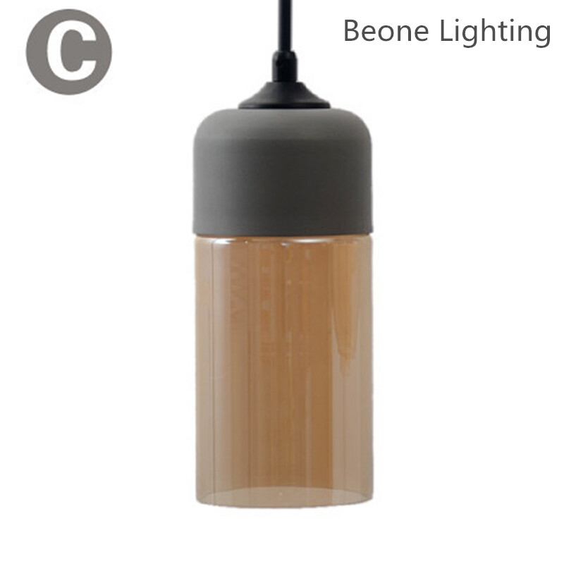 Modern Glass Pendant Light in Plated Grey Amber Glass E27 for Dining Room Bedroom Kitchen Cafe Bar Loft Home Lighting factory cheap amber smoky gray red coffee blue glass pendant lamp pendant light edison bulb bedroom dining room cafe kitchen bar