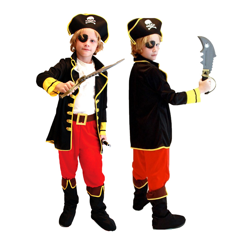 kids boys pirate costumes/cosplay costumes for boys/halloween cosplay kids/children Girl Free ship