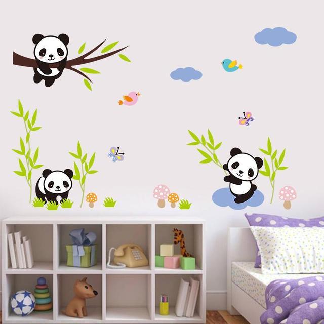 Xxl Encantador Bebe Travieso Panda China Pegatinas De Pared De