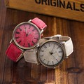 2016 New Fashion Jeans Women Wristwatch Casual Leather Strap Bracelet Watches Relogio Feminino