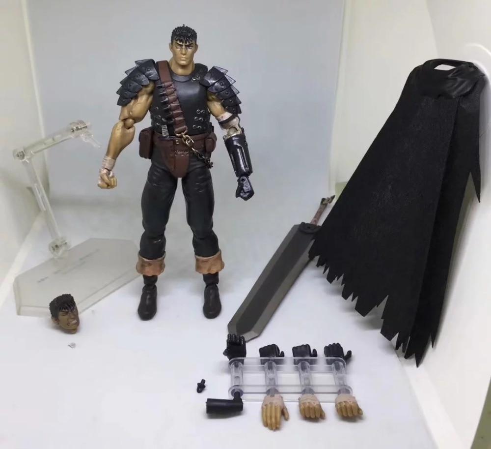 Game Berserk Beruseruku Figma 359 Black Swordman Action Figures Mode Toys 17cm (5)