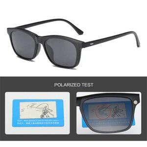 Image 2 - UVLAIK 패션 옵티컬 스펙터클 프레임 남성 여성 선글라스에 5 클립 클리어 안경 남성용 편광 안경