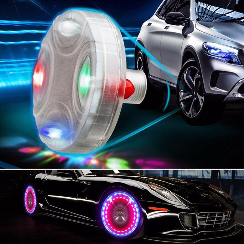 New 15 Mode Car Motocycle Wheel Light Air Caps Car-styling Tire Valve Caps Solar Energy LED Light