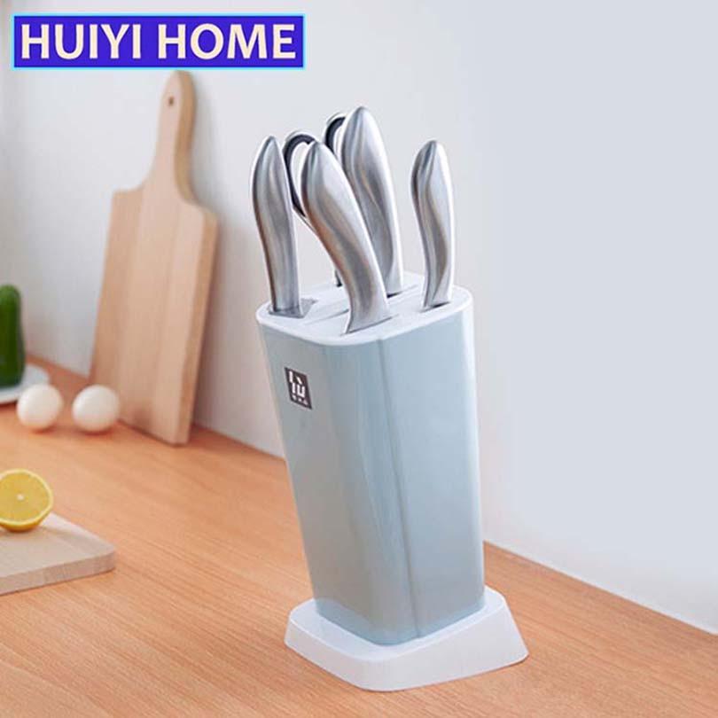 HUIYI HOME Multipurpose Knife Racks Seven Holes Kitchen Tools Draining Shelves EGN190