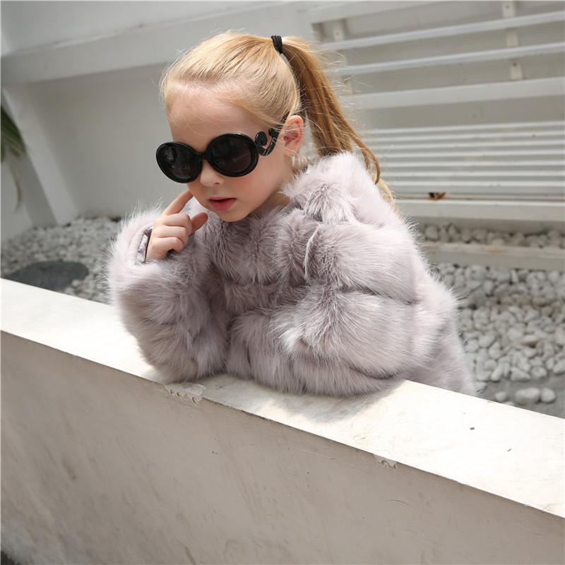 Winter Jackets Girls Fur Coat Gaueey Cute Baby Girl Jacket Thicken Warm Overcoat Children's Outerwear Trench Coats For Girls fashion girls fur coats 2017 new baby girls pu leather faux fox fur motorcycle jackets winter warm kids outerwear coats