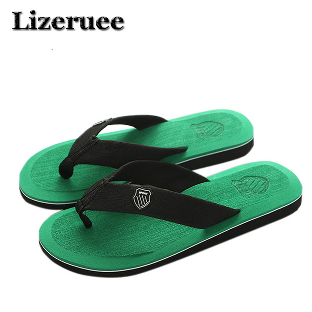 KESMALL New Arrival Summer Men Flip Flops High Quality Beach Sandals Non-slide Male Slippers Zapatos Hombre Casual Shoes A10 ege brand men casual sandals new arrival genuine cow leather classics beach male shoes summer high quality sandals for men