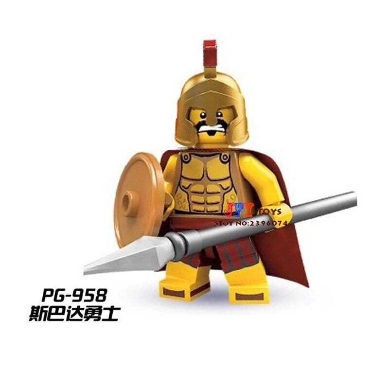 50pcs starwars superhero Hero of Sparta Gladiatus building Series blocks brick for girl boy Gift children toys brinquedos menina