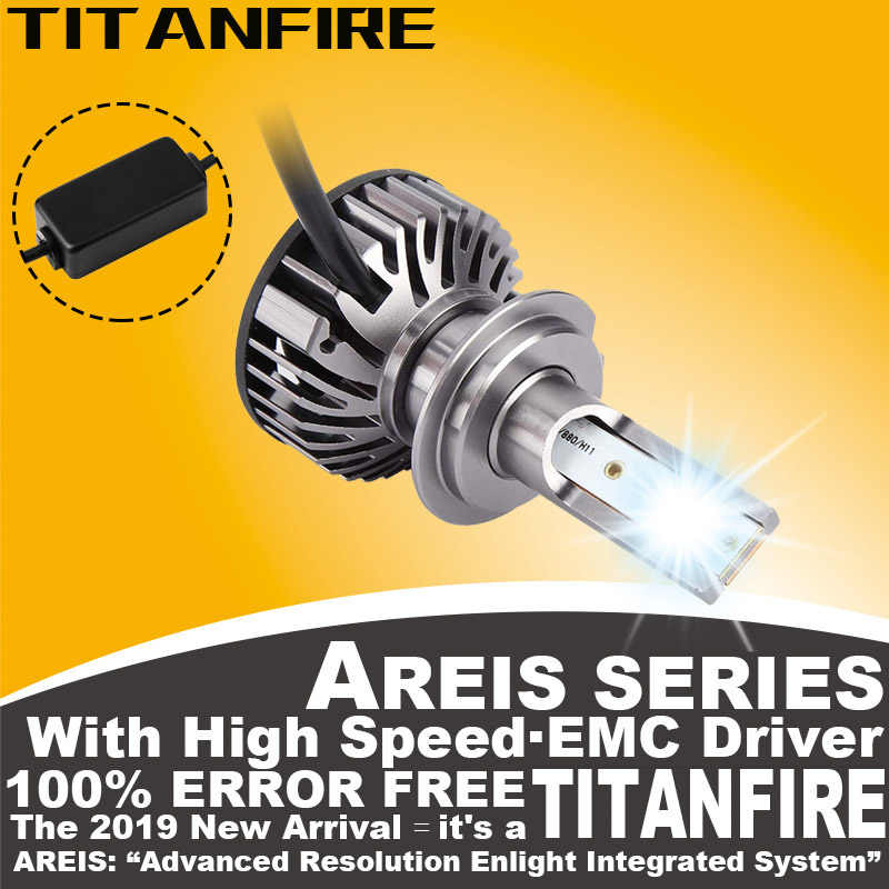 TF30 2Pcs/lot LED Bulbs Conversion Kit Lights 80W 10000LM H4 H1 H7 H8 H11 HB3 HB4 9003 Auto ZES Car F2 Headlight 6000K