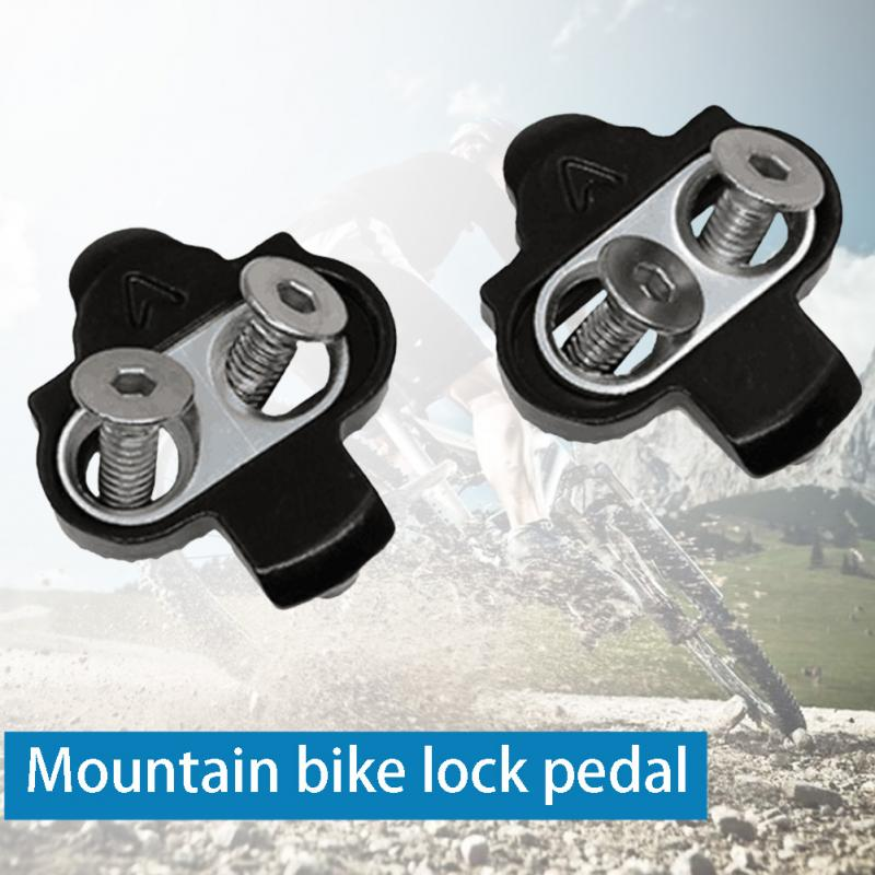 Mountain Bicycle Pedals Cleat Biking MTB Bike Cleat Set Clip-in Clips Kit W/Hardware Nuts Cleats SPD Pedals Plate Bicycle Access