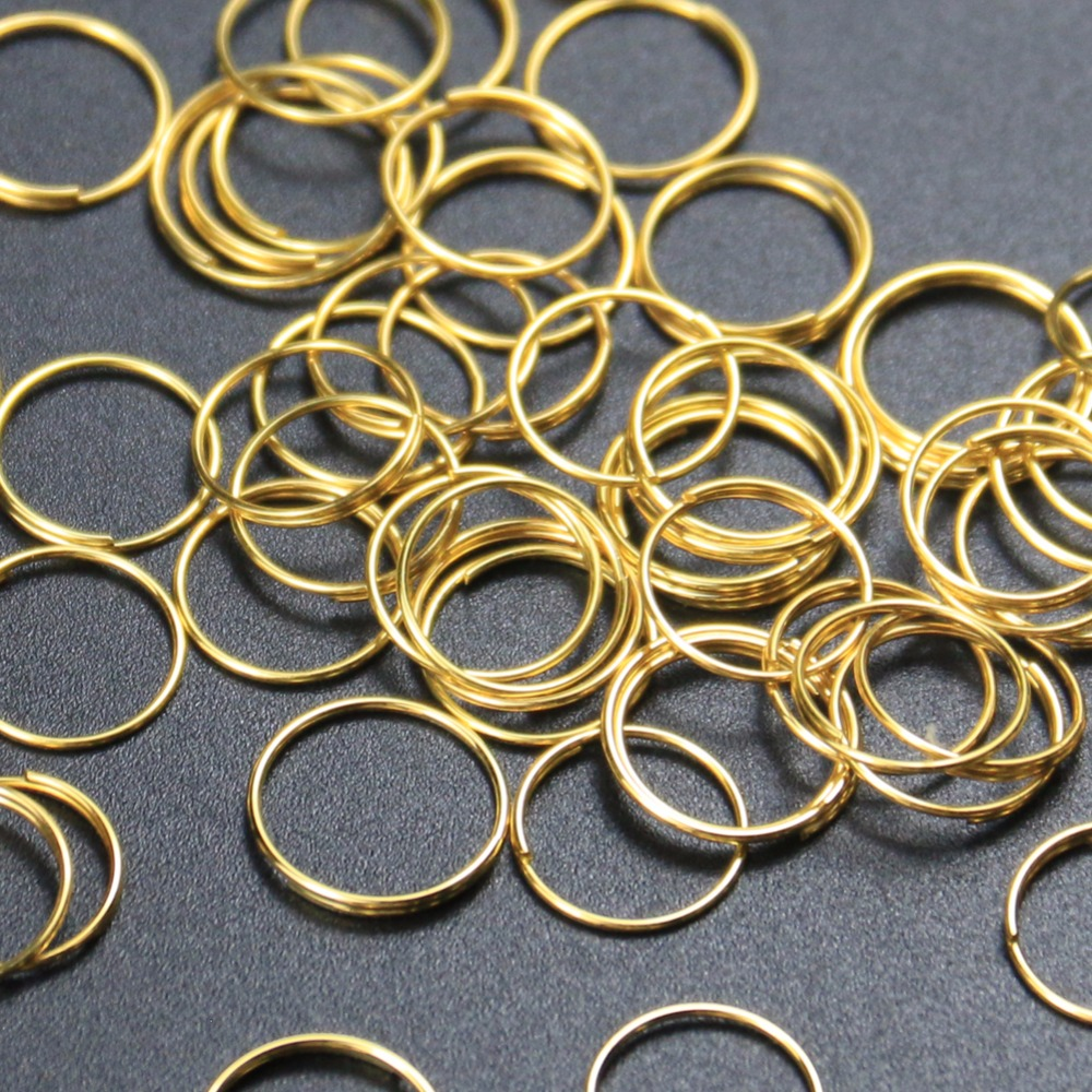 100Pcs 12MM Gold Silver Plated Steel Ring Loop Lamp Parts Chandelier Crystal  Connector Pendant Bead Curtain Accessories