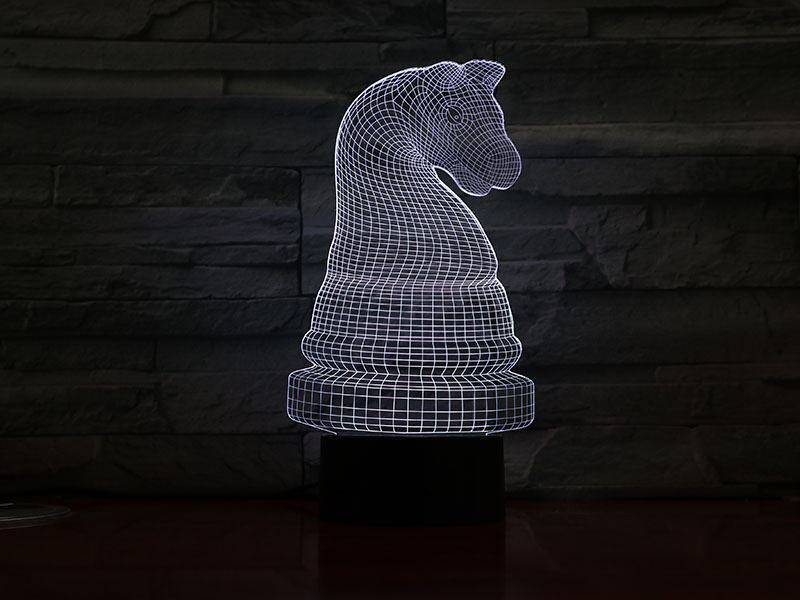 Table Bedroom Lamp Chess Knight Lampara Touch Sensor 7 Color Changing Children Kids Boys Girls Gift Chess Night Light LED in LED Night Lights from Lights Lighting