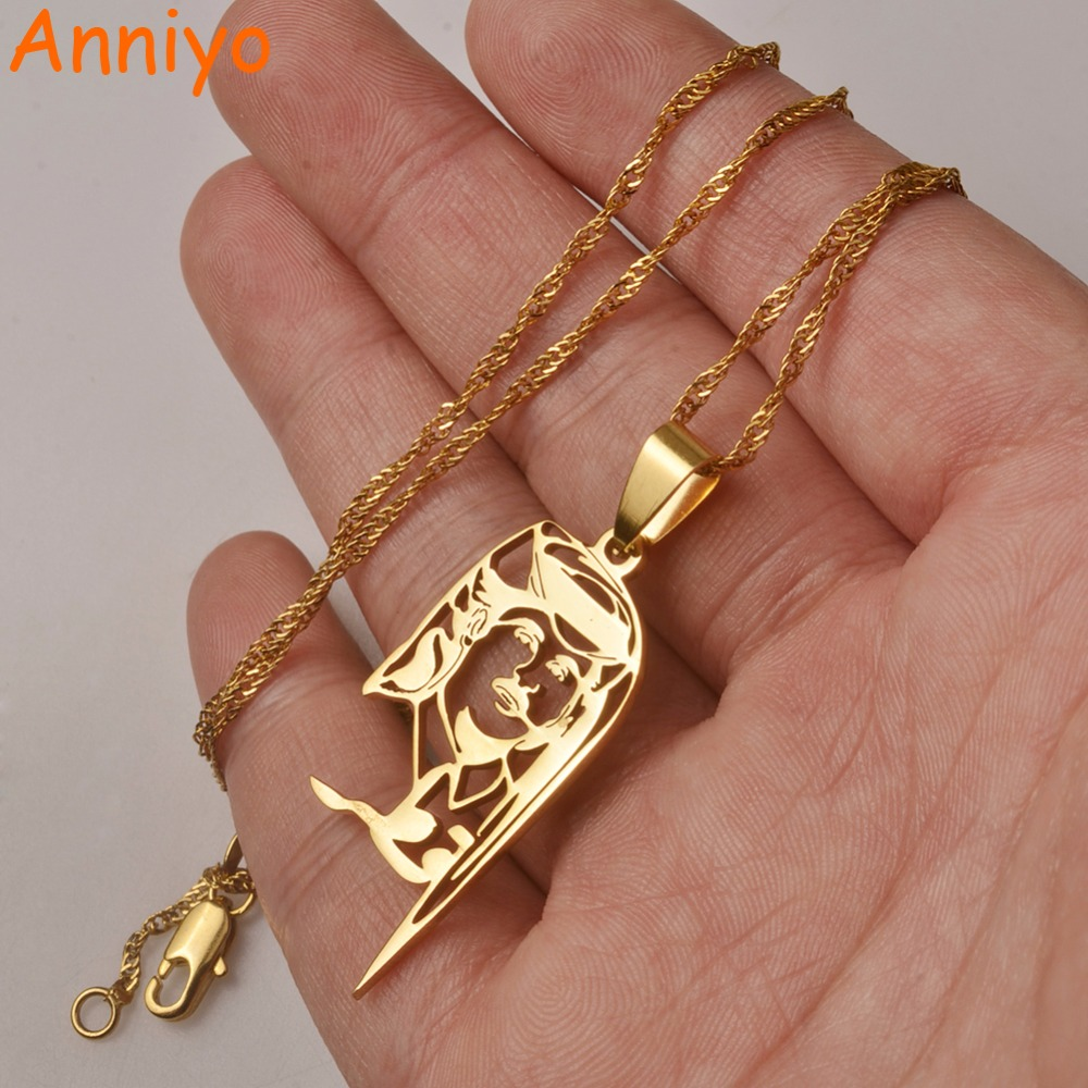 Anniyo Qatar Necklace and Pendant for Women/Girls,Silver Color Stainless Steel / Gold Color Ethnic Jewelry Gifts #027621 frances gillespie zawahef qatar reptiles and amphibians of qatar