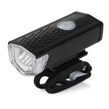 300LM Ciclismo Bicicleta LED USB Recargable Lámpara de Cabeza Luz Delantera de la Bici Impermeable DEL CREE de Alta Potencia Linterna Luz de Advertencia