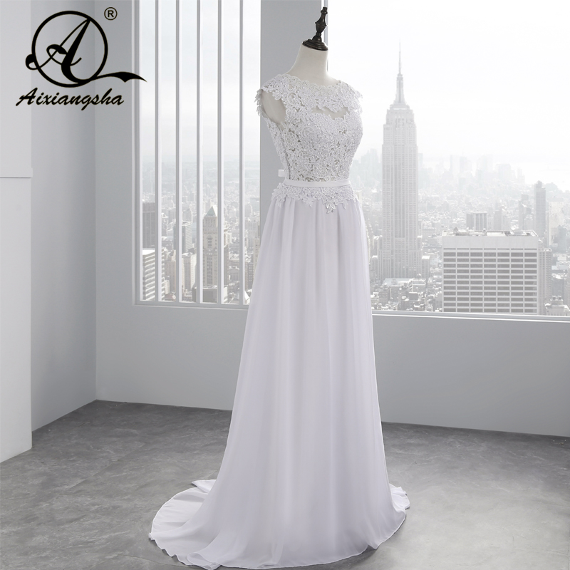 2018 Hot Selling Custom Made A Line Bröllopsklänningar Vestido de - Bröllopsklänningar - Foto 2