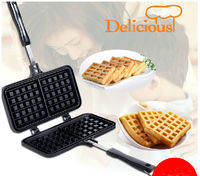 Hot Selling 1 Piece Mini Waffle Pan Maker Mold Gas Home Cooking Appliances Egg Waffle Pan