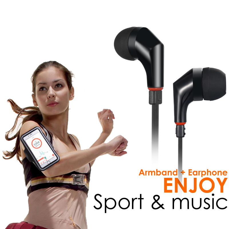 Wallytech WHF-111 Stereo in-ear Earphone and Sports Armband Case cover For iPhone 6 Free shipping 7colors