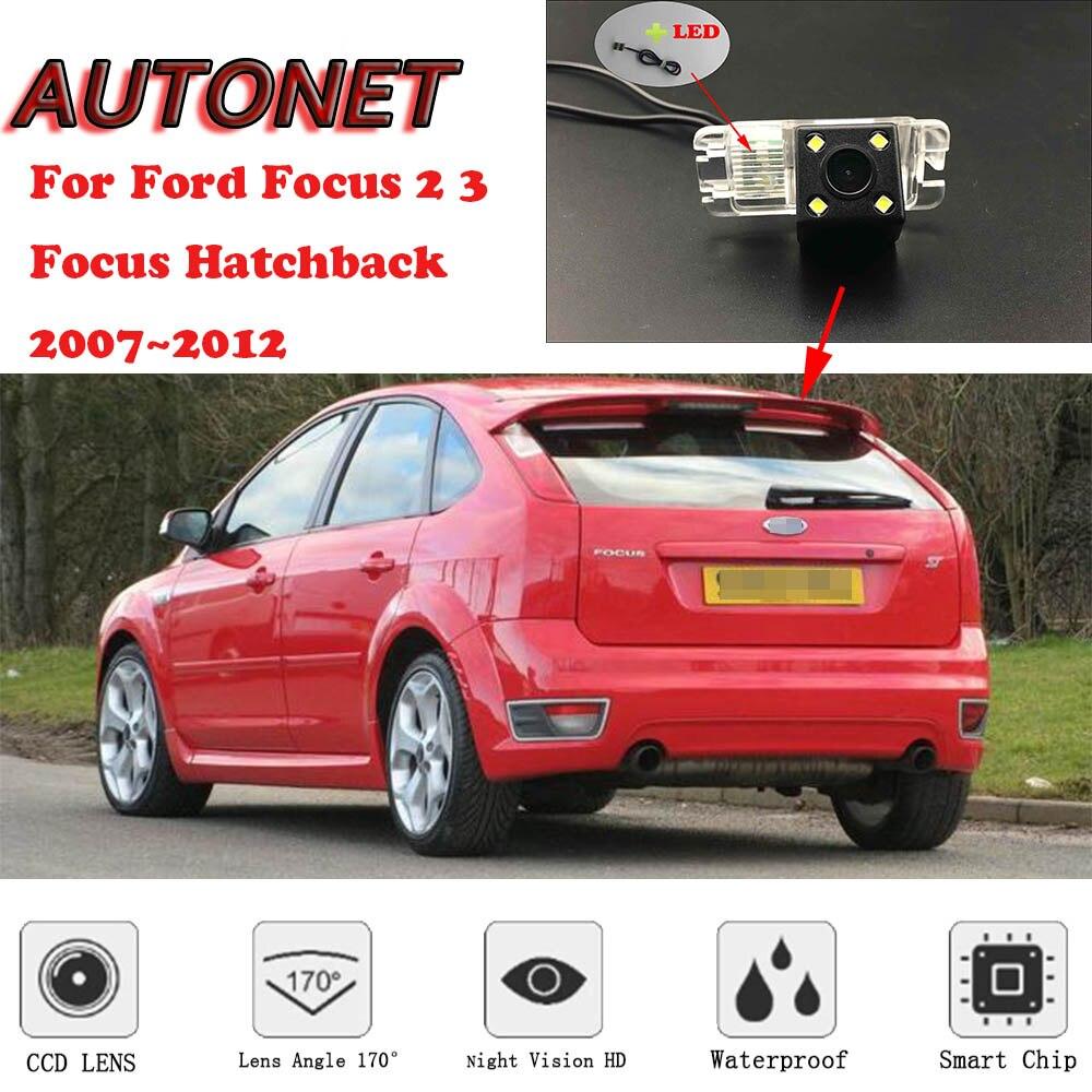 AUTONET Backup Rear View Camera For Ford Focus 2 3 Focus Hatchback 2007 2008 2009 2010 2011 2012  Parking Camera Or Bracket