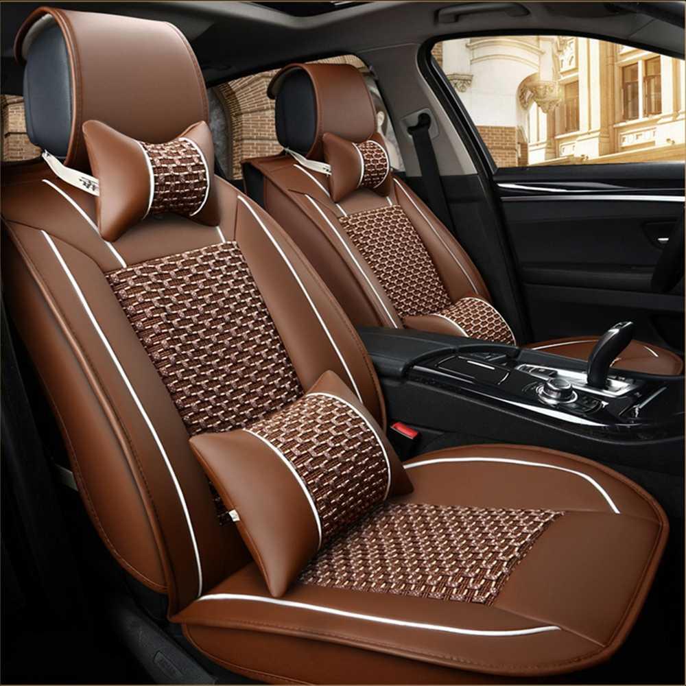 Housse de siège auto 5 places pour KIA Magentis/Opirus/VQ/KCV4/Forte/Stinger/K900/Stonic/Cadenza/K9/Niro/Sorento/BORREG/Carens