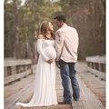 Adereços Fotografia Grávida Vestido de Chiffon Vestidos de maternidade Gravidez Roupa Roupas Estúdio Sessão de Fotos Presente Do Chuveiro de Bebê