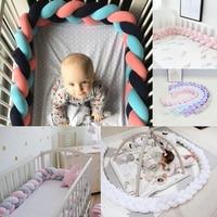Детская кровать бампер 3 косы кровать для новорожденных Декор Tour De lit Bebe Tresse чистый ткачество кроватки бампер протектор для детской комнаты ...