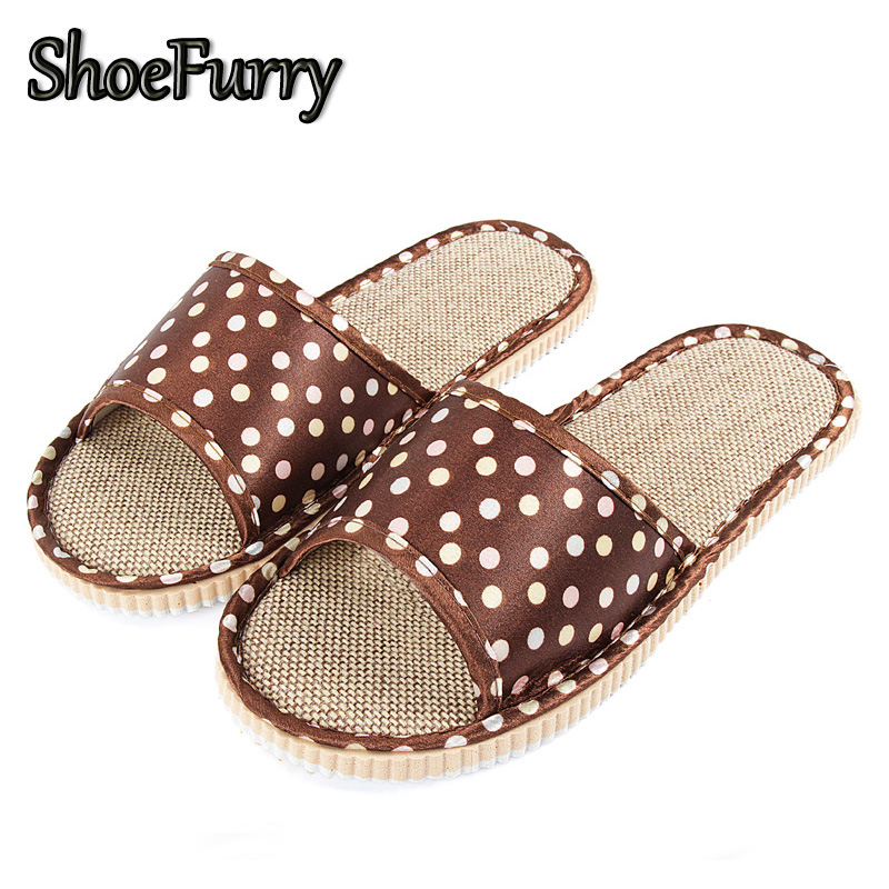 ShoeFurry Flax Home Slippers Men Casual Shoes Breathable Sweat Linen Slippers Summer Male Beach Sandals Indoor Bedroom Slippers