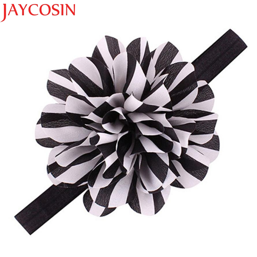 JAYCOSIN Fashion Baby Girls Striped Big Flower Headbands Children Elastic Hair Accessories Oct9 drop Shipping