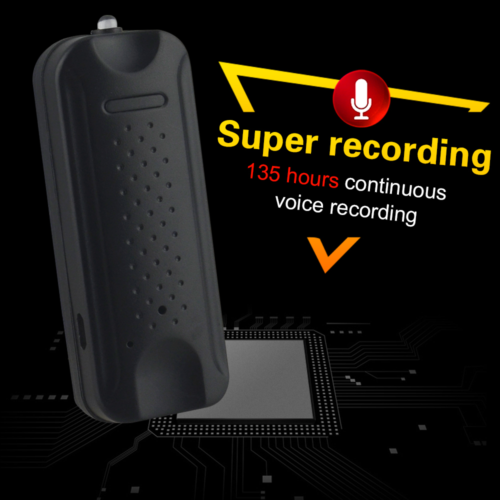 Voice Recorder Q6 with2000mAh Battery 8GB Memory Strength Magnets Car Voice Record Q6 2Months In car