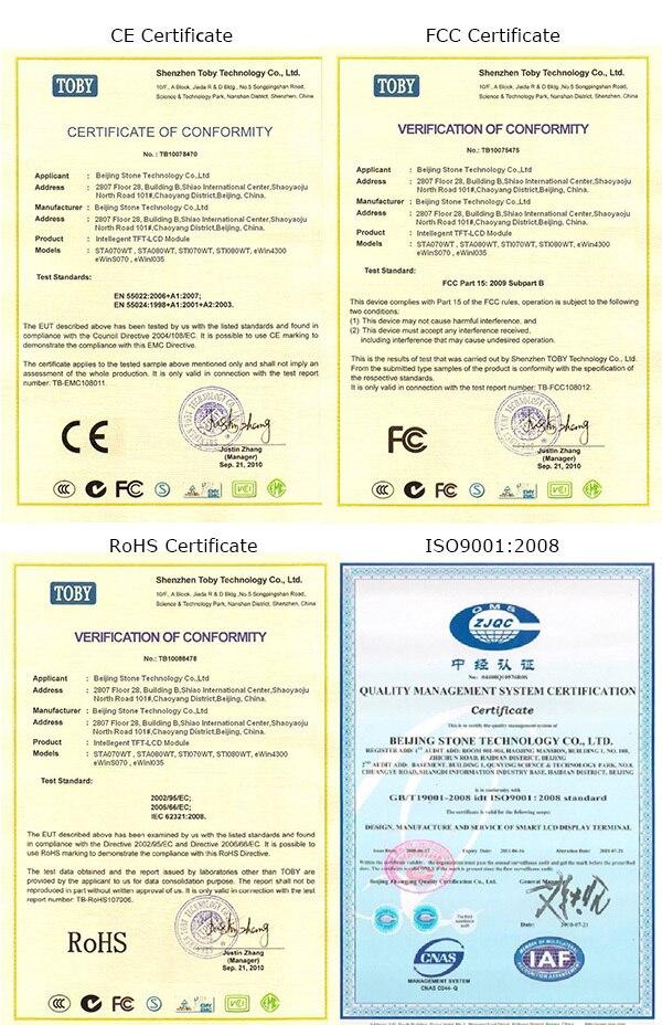 LCD 800*600 8 pouces pour contrôleur d'humidité