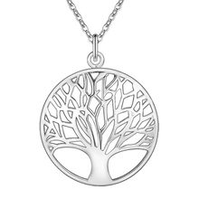 HOT Lose Money Item silver totem religion Fashion silver Tree Of Life Pendant Necklace 18inch 1mm collares hot 925(China)