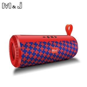 Image 4 - M & J اللاسلكية مكبر الصوت المحمول الذي يعمل بالبلوتوث مضخم صوت ستيريو العمود مكبر الصوت + TF المدمج في هيئة التصنيع العسكري باس FM USB MP3 الصوت بوم صندوق