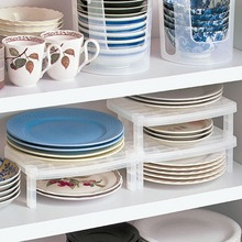 Kitchen organizer White Multifunction kitchen Shelf plastic Bowl Plate Storage Rack Organizers for Kitchen Storage