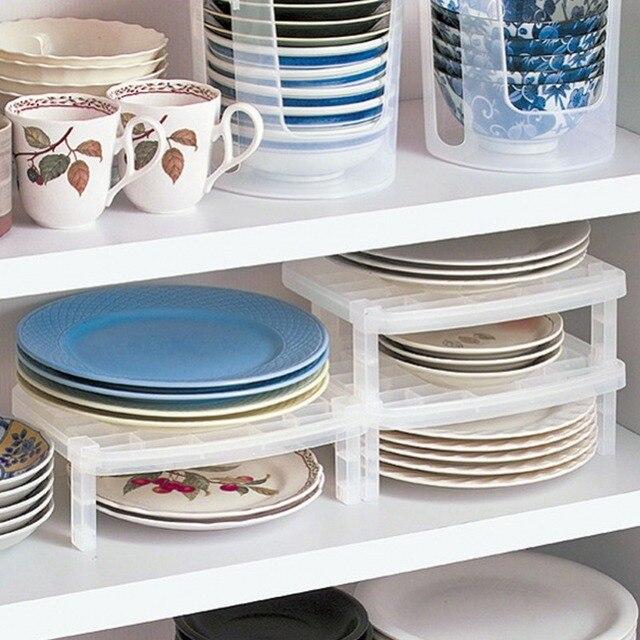Organizador de cocina blanco multifunción estante de cocina plato de  plástico estante de almacenamiento organizadores para 324694794985