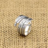 Handmade Silver 925 Feather Rings Men Vintage Indian Style 100 Pure Solid Antique Silver 925 Cool