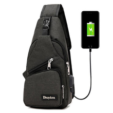 Men USB Charging Chest Bag  (3 colors)