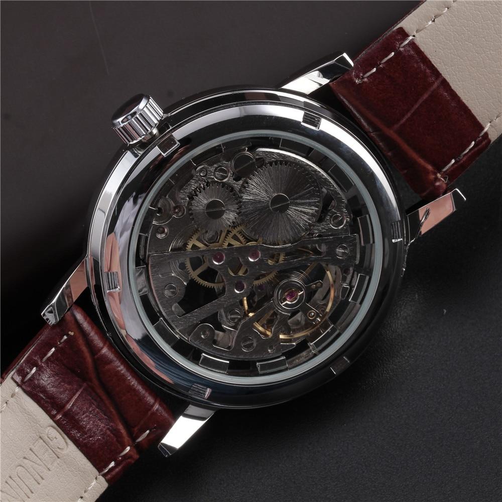Top marca de lujo SEWOR esqueleto relojes hombres Steampunk mano - Relojes para hombres - foto 5