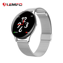 LEMFO SN58 Tempered Glass Screen Steel Strap Smart Watch IP68 Waterproof Heart Rate Monitor Blood Pressure For Android IOS Phone(China)