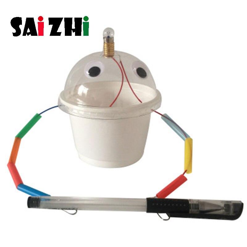 Saizhi bricolage détecteur de conducteur de Circuit développant la tige intellectuelle jouet Science expérience Kit enfants laboratoire Set cadeau d'anniversaire SZ3269
