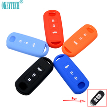 OkeyTech Silicone Rubber Car Key Cover Case For Mazda 2 3 5 6 8 Atenza CX5 CX-7 CX-9 MX-5 RX Smart 3 Buttons Shell Accessories