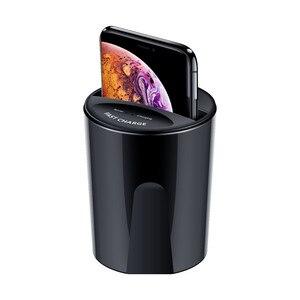 Youbina QI Беспроводное зарядное устройство USB зарядка держатель для IPhone 8/X/XS/XR/XS Max Samsung Быстрая зарядка Автомобильная чашка зарядная станция