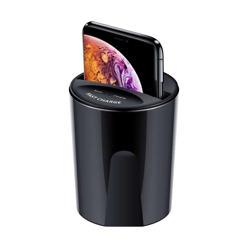 Youbina QI cargador inalámbrico USB soporte de carga para IPhone 8/X/XS/XR/XS Max Samsung estación de carga de taza de coche de carga rápida USLION cargador rápido QC 3,0 USB US EU cargador Universal de teléfono móvil adaptador de carga rápida de pared para iPhone Samsung Xiaomi
