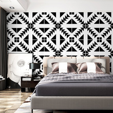 10mx53cm Black and white wallpaper modern art Nordic style minimalist ceiling living room bedroom TV background