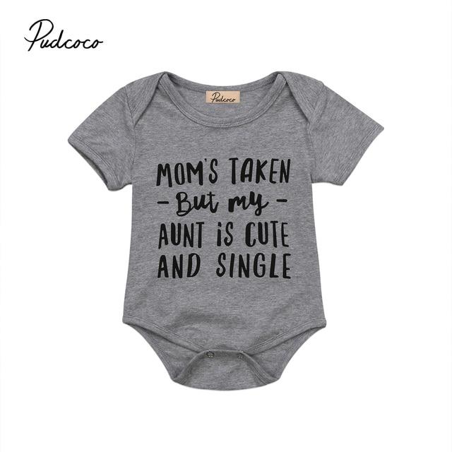 d8e205dbc07 Infant Baby Girl Boys aunt is cute Clothes Summer Newborn Bodysuit Jumpsuit  Outfit Sunsuit