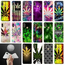Etui Soft Cover Phone Case untuk Xiaomi Redmi Note 8 7 6 5 PRO Redmi 7 8 6PRO 6A s2 5a 4a 4X Y3 5 Plus 7A Gulma Daun Rumput HUF(China)