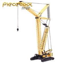 Модели машин Piececool, 3D металлические нано-головоломки, модель гусеничного крана, наборы, DIY 3D модели лазерной резки, игрушки для взрослых