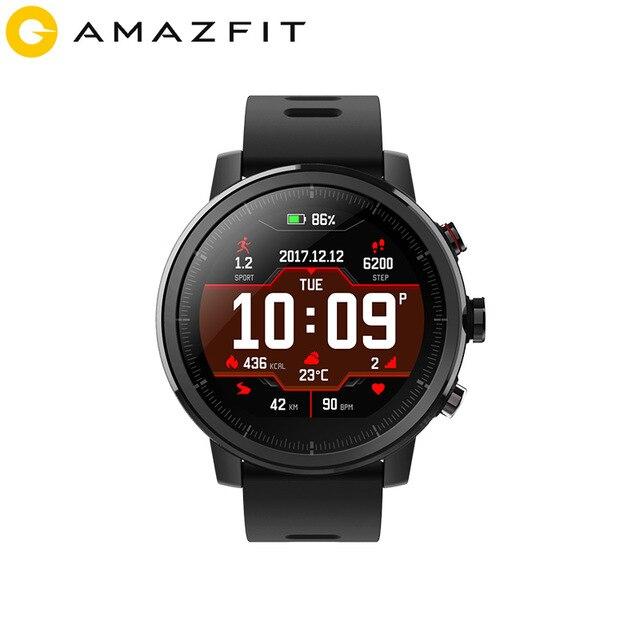 Global Versie Originele Xiaomi Huami Amazfit Stratos 2 Smart Horloge Sport GPS 5ATM Water 2.5D GPS Firstbeat Zwemmen Smartwatch-in Smart watches van Consumentenelektronica op  Groep 1