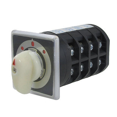 Ui 690V Ith 40A on-off-on 3 Position Rotary Cam Changeover Switch load circuit breaker switch ac ui 660v ith 100a on off 3 poles 3 phases 3no 2 position universal rotary cam changeover switch