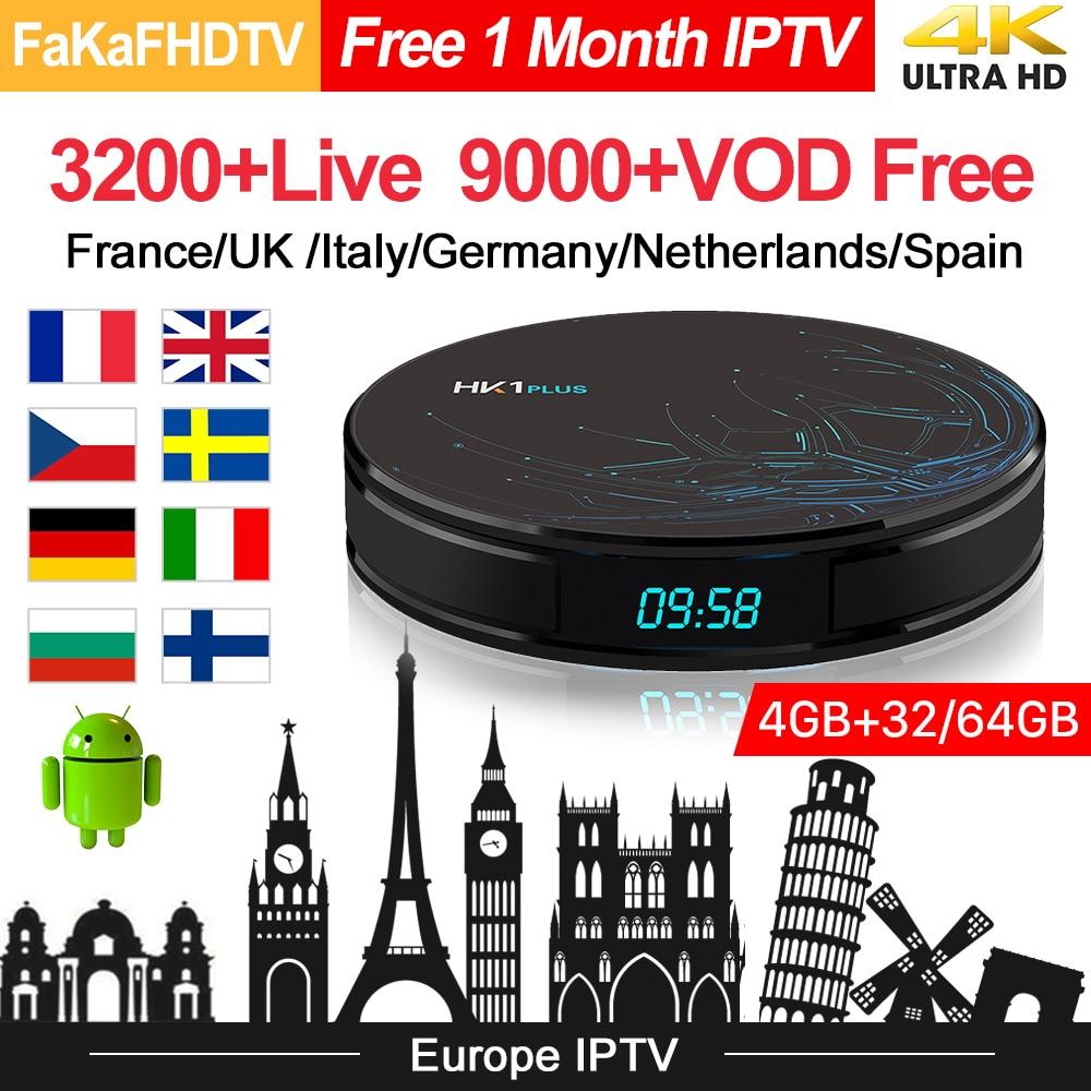 HK1 плюс Европа IP tv Box Full HD IPTV Франция арабский Турция Германия Великобритания IP tv Италия Португалия Испания Italia IP tv Android 8,1 tv Box-in ТВ-приставки from Бытовая электроника